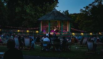Arboretum Bandstand at night