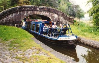 Canal near Hazelhurst with narrowboat Beatrice
