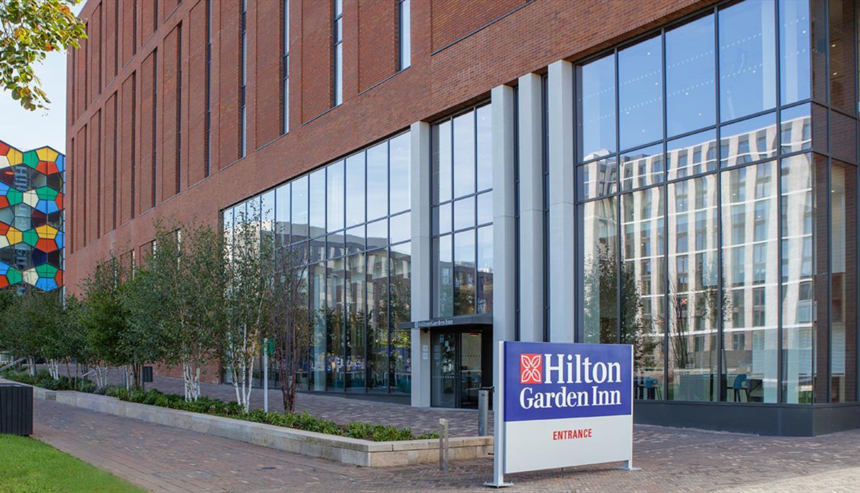 Hotels in Staffordshire: the exterior of Hilton Garden Inn, Stoke-on-Trent