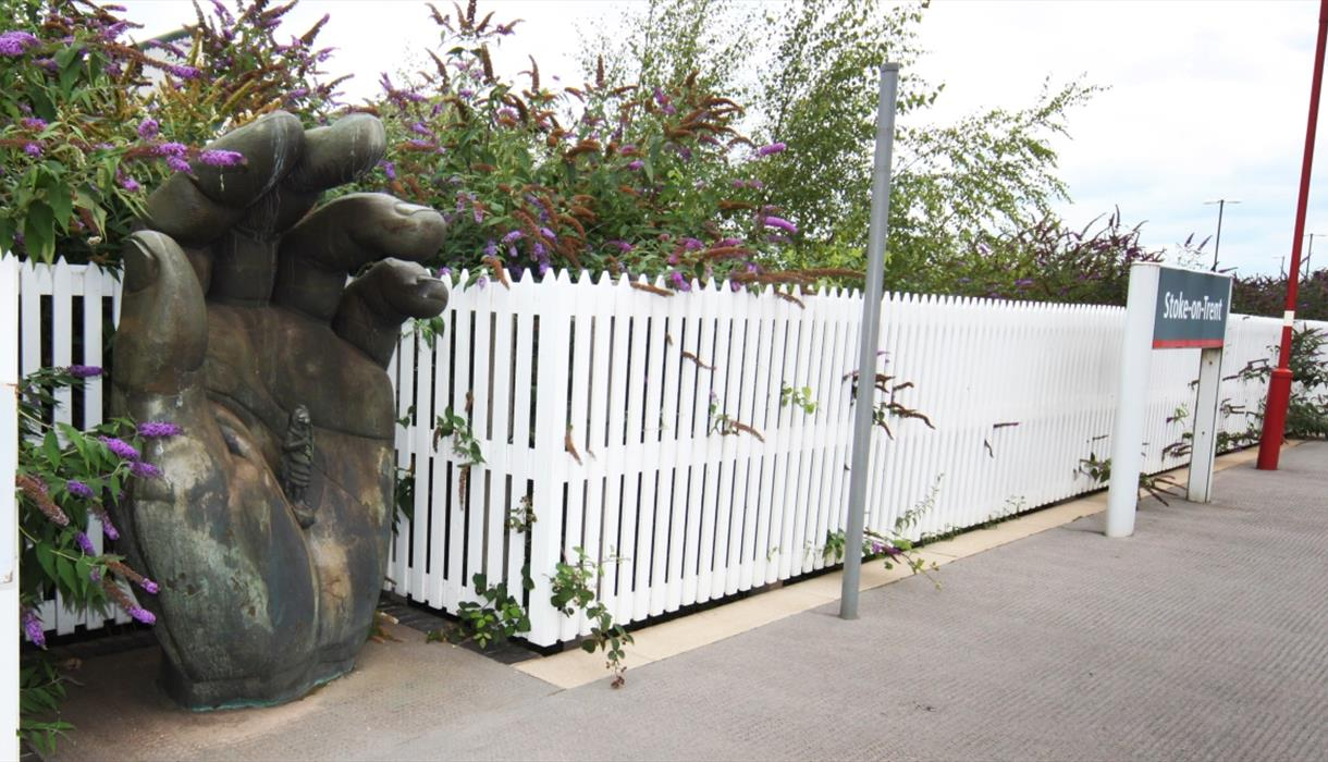 Hand With Chronos at Stoke-on-Trent Station