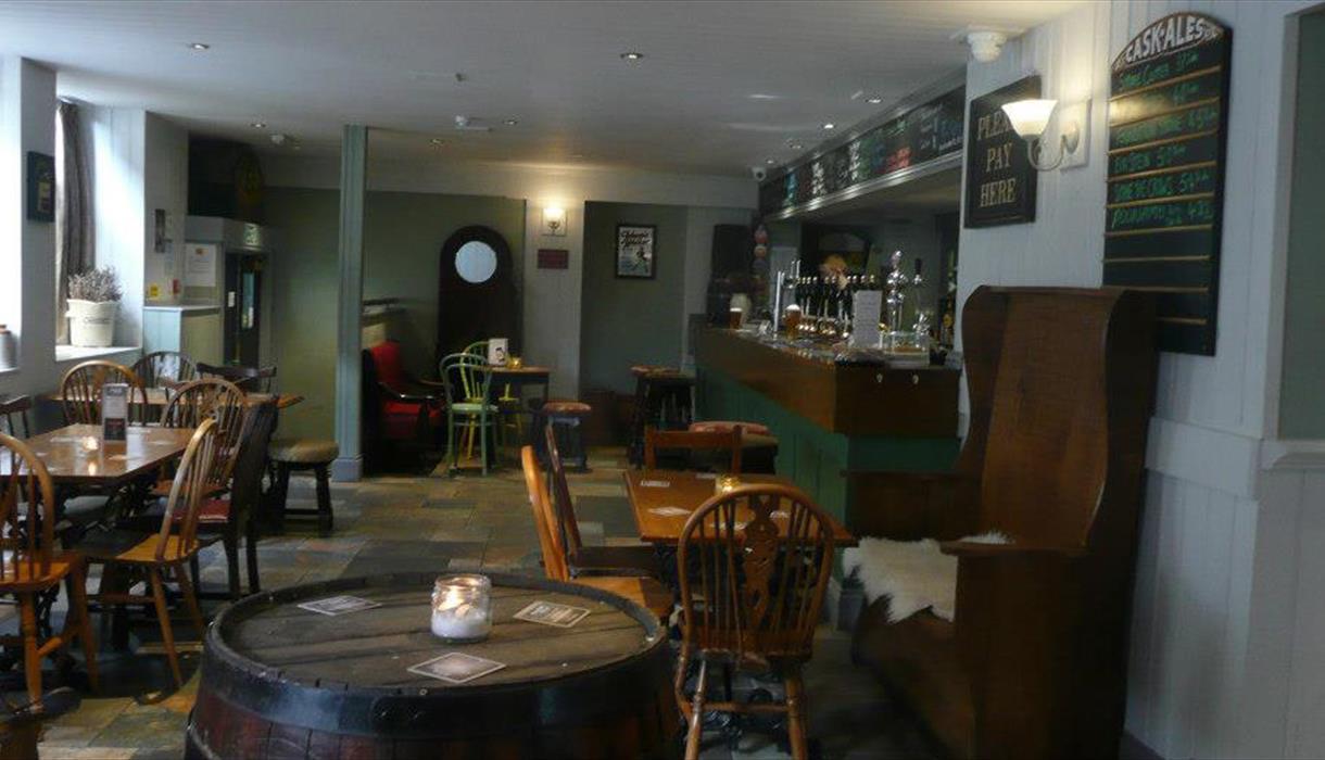 Bar area in Lymestone Vaults