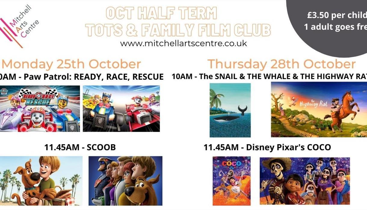 Oct Half Term FILM CLUB