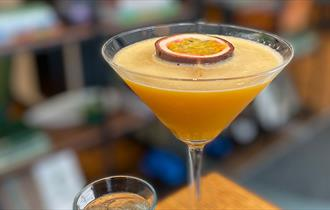 Passionfruit martini at The Orchard Bar & Bistro