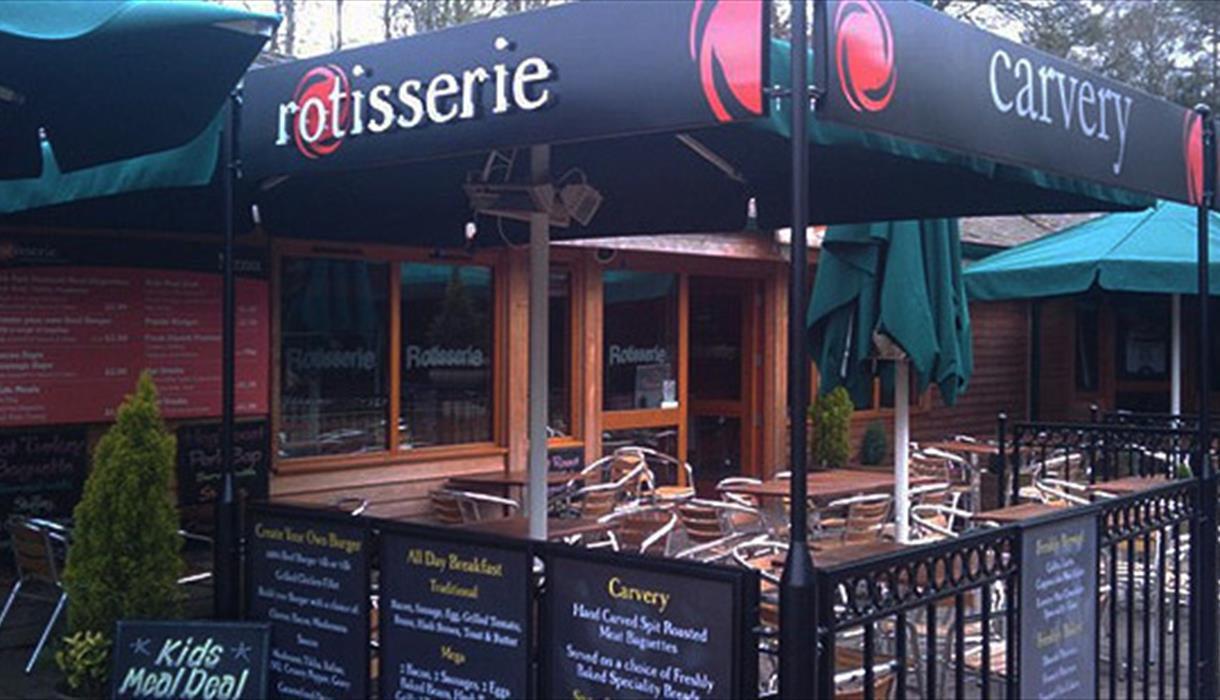 Seating area outside Rotisserie
