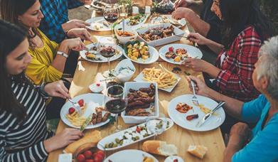 Family and friends enjoying dining at Bon Pan Asian