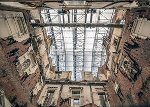 A view up through the Marble Hall to the roof - James Duffy