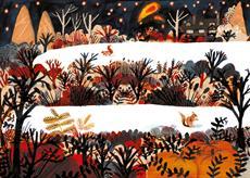 Watts gallery in autumn, illustration