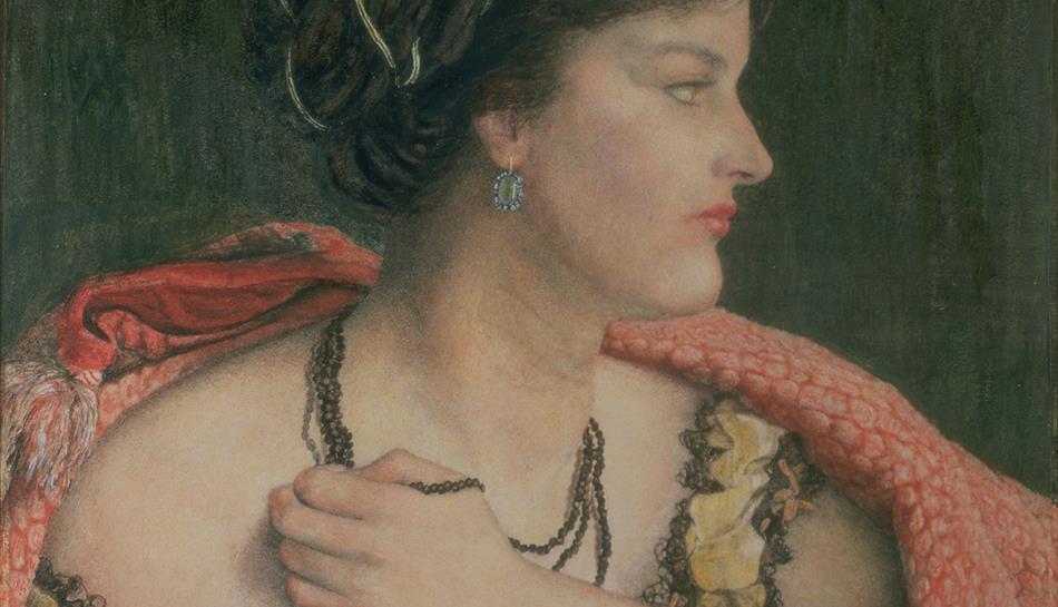 Lady profile portrait