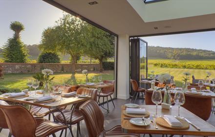 Denbies Vineyard Restaurant Sparkling Afternoon Tea & Train Tour
