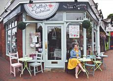 Rebecca at Dotty's Teahouse in Carshalton, Surrey