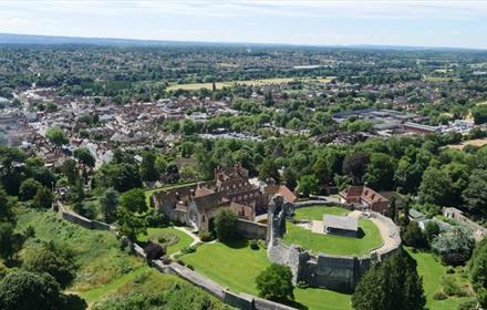 Aerial view of Farnham
