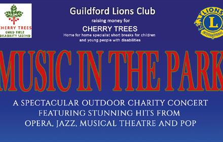 Music in the Park, guildford Lions Club, Concert, Cherry Trees, Hatchlands Park