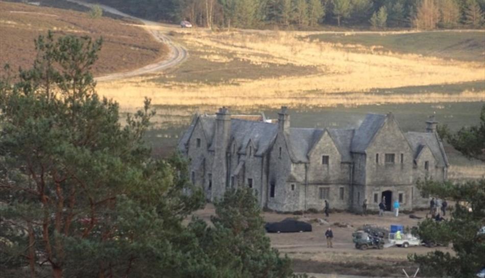 The Bond Mansion, film set Hankley Common, Surrey