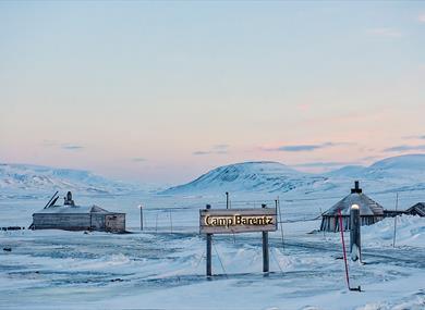 Camp Barentz in wintertime
