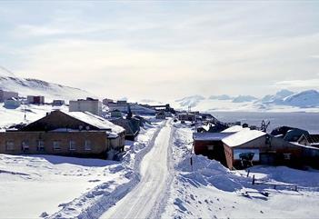 Barentsburg in the wintertime