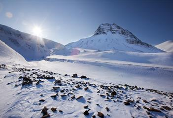 Sarkofagen: Hike in glaciers and mountains - Svalbard Wildlife Expeditions