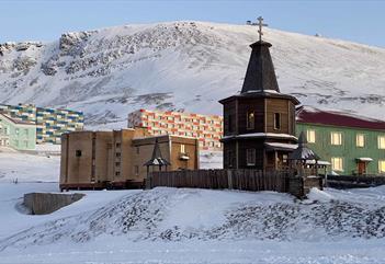 The church of Barentsburg
