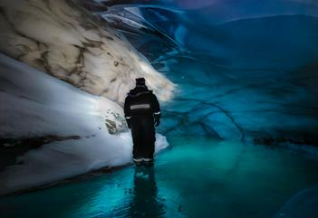 Experience the ice cave