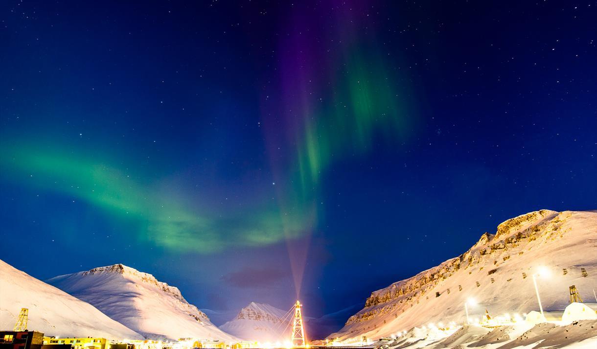 Northern Lights above Longyearbyen
