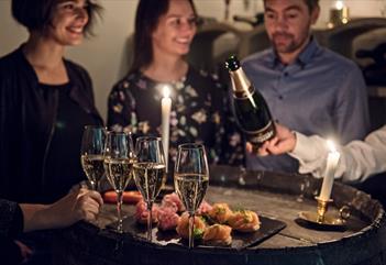 Champagnesmaking på det gamle Nordpolet