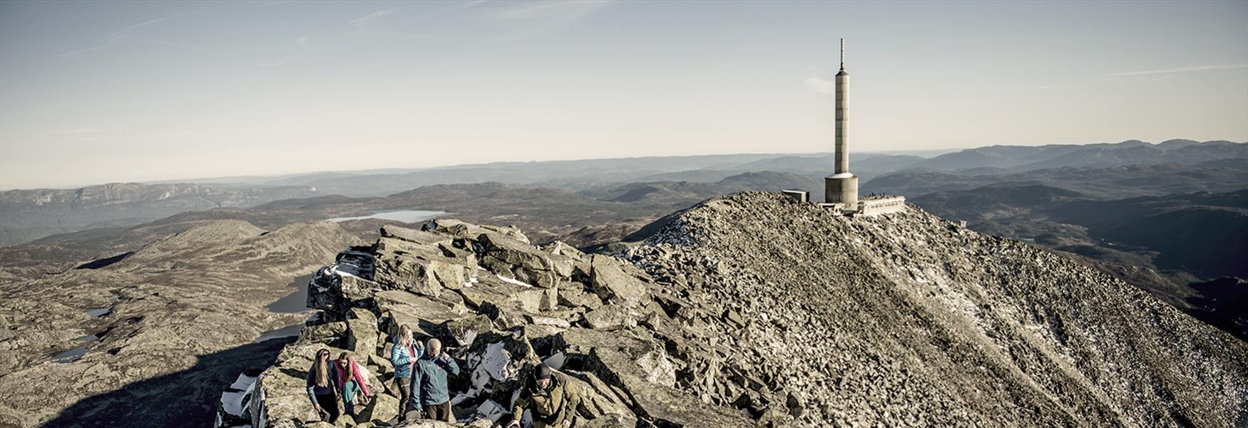 Toppen på Gaustatoppen