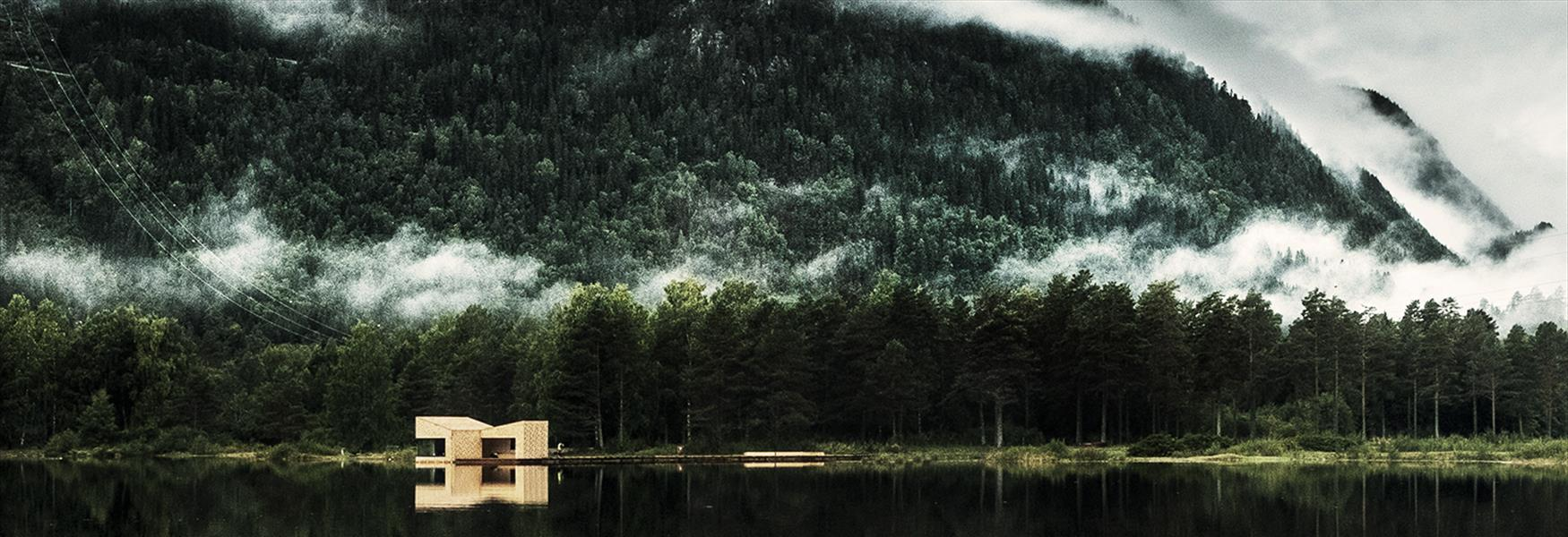 Soria Moria badstue ved Telemarkskanalen i Dalen