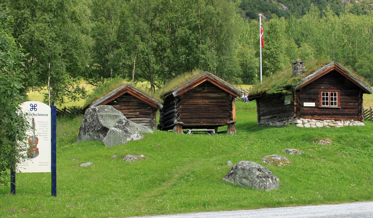 Myllarheimen seen from the road