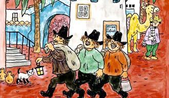 Tegning av Folk og røvere i Kardemomme by