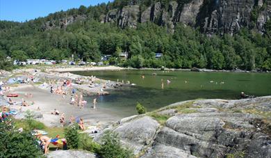 beach at Rognstranda Camping