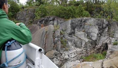 The geopark at the island Løvøya in Porsgrunn