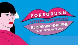 Plakat Bjørg Vik-dagene i Porsgrunn