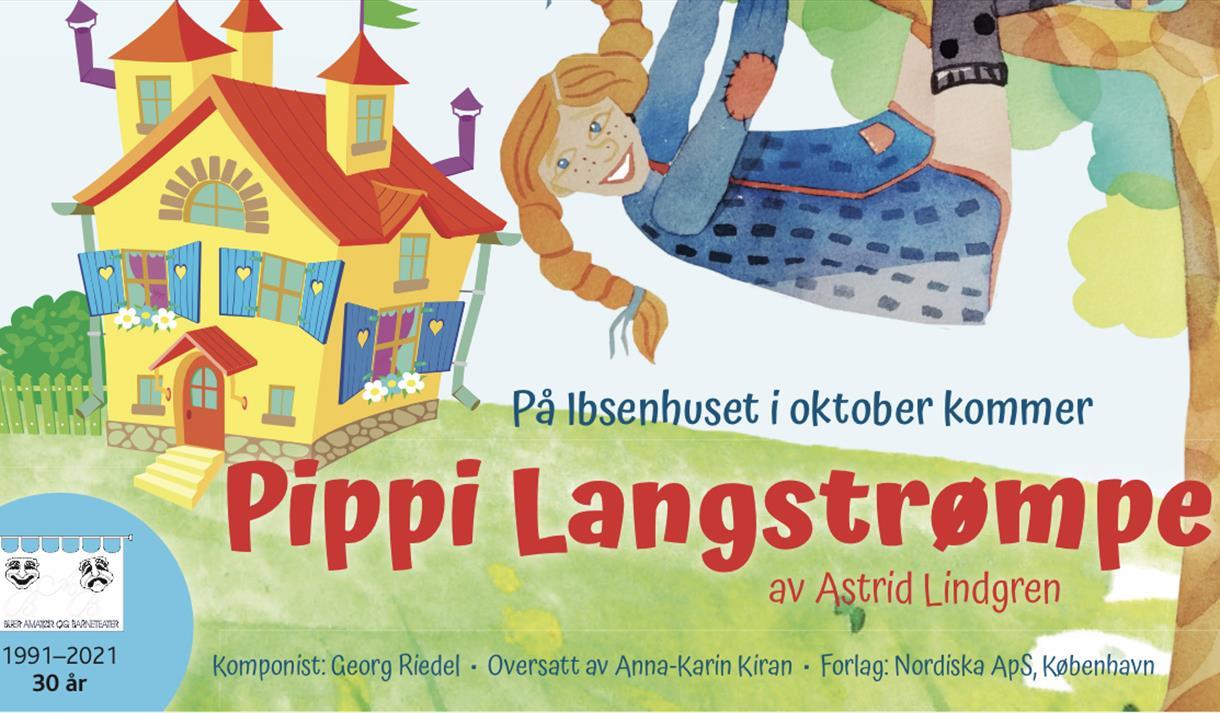 Pippi Langstrømpe 2021 plakat