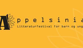 Plakat: Appelsinia Litteraturfestival for barn og unge
