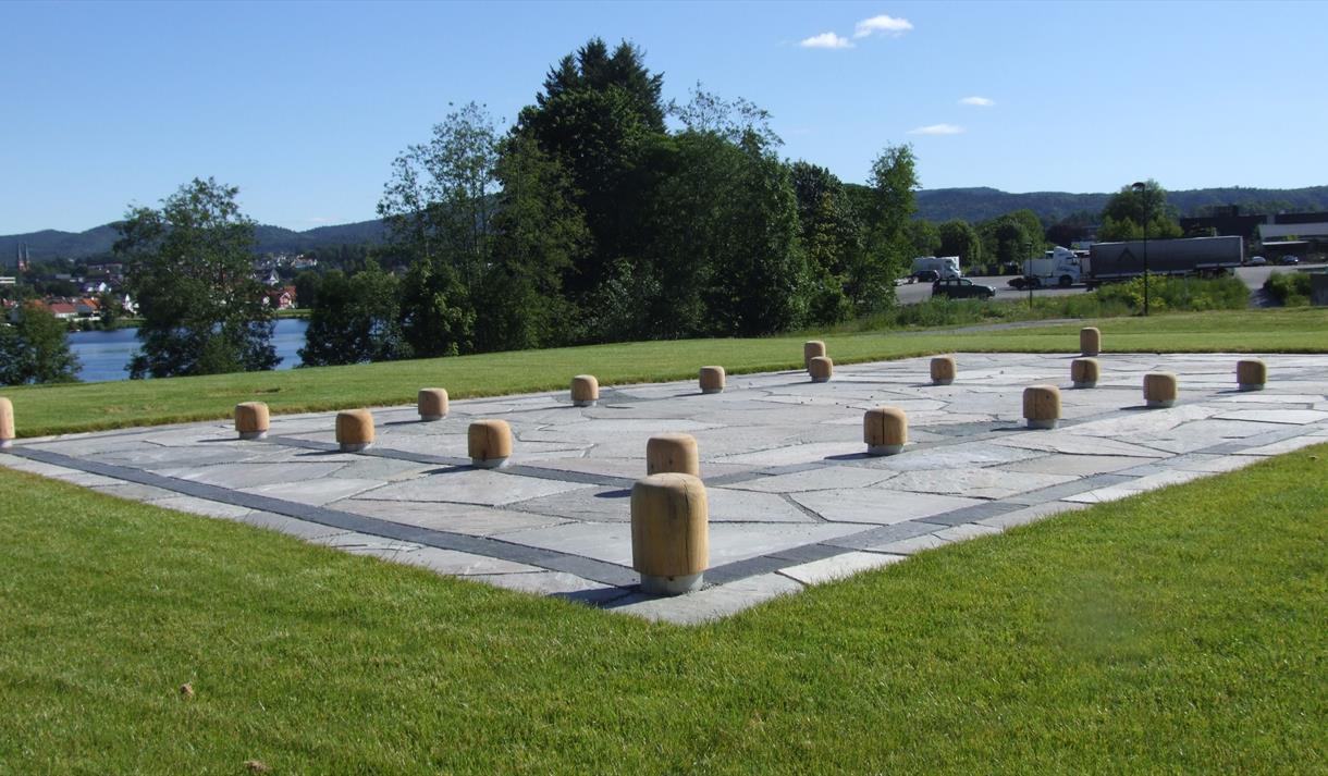 Hakastein kulturminnepark på Faret i Skien.
