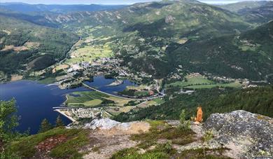 view of Seljordvatn from Bjørgefjell in Teemark