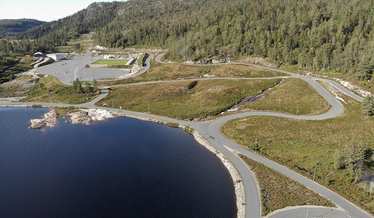 Gautefall Biathlon, 4,3 km løype i naturskjønne omgivelser