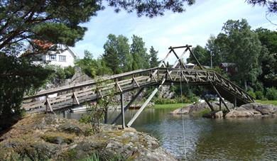 footbridge from Sandøya to Løvøya