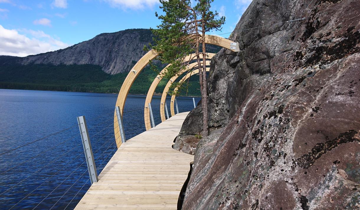 hiking trail at Hamaren activity park in Fyresdal