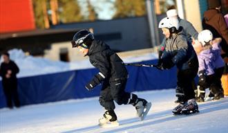 Ice rink at Skien fritidspark