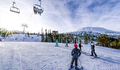 Gausta ski center offers tracks for all levels.