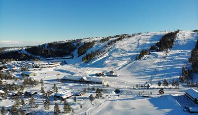 Gautefall ski center in Drangedal