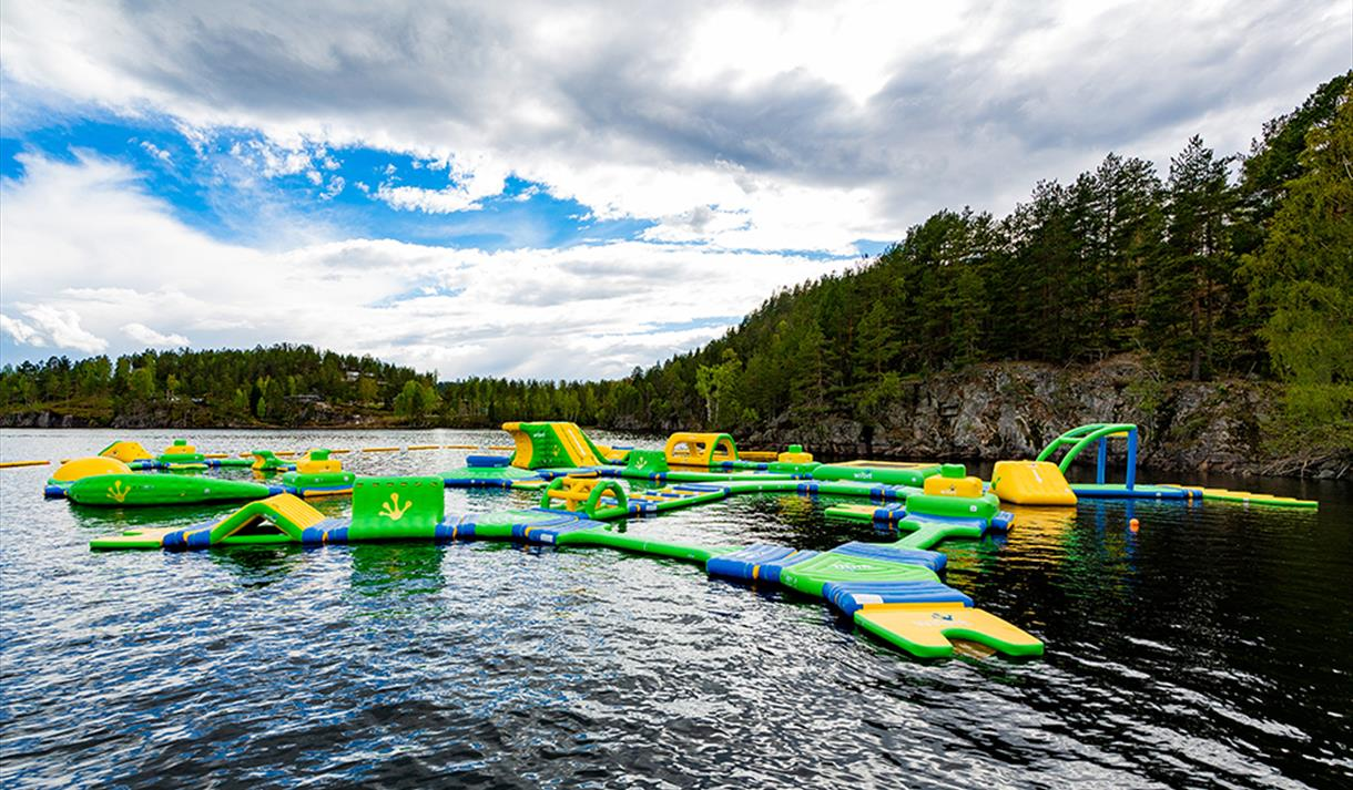 the water park at Hulfjell farm in Drangedal