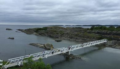 From the brigde in Krogshavn, Langesund. This is a part of the coastal path from Langesund to Kragerø