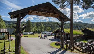 Entrance to Groven Camping & Hyttegrend