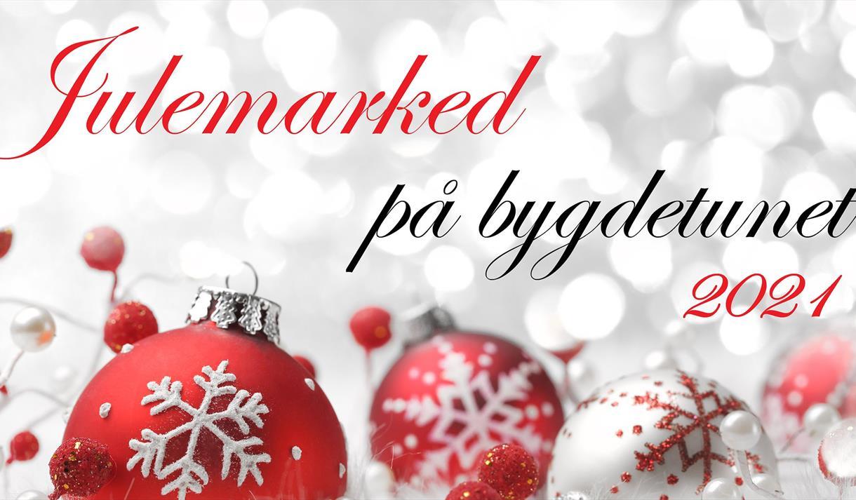 Plakat: Julemarked på Drangedal bygdetun