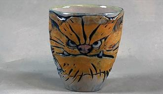 Keramikkopp av Kari Wandler Øverland