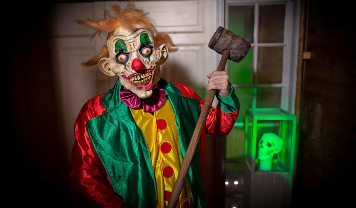 scary clown in the raven loft in Porsgrunn