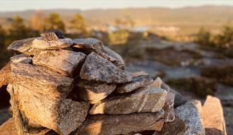 steinhaug på Langmyrheia i Drangedal