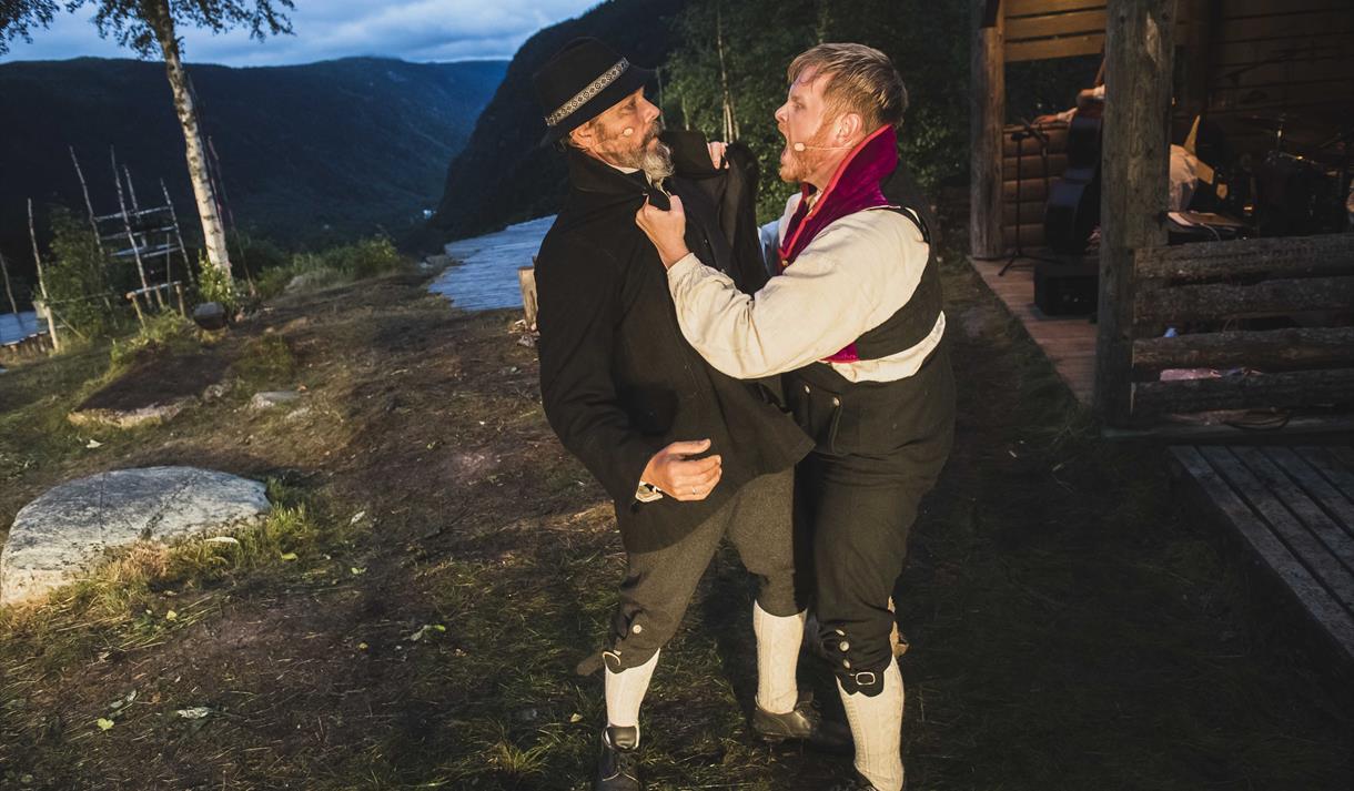 Marispelet Rjukan has both famous actors and local amateurs.