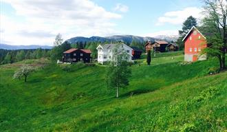 Bolkesjø Gaard at the foot of Blefjell mountain